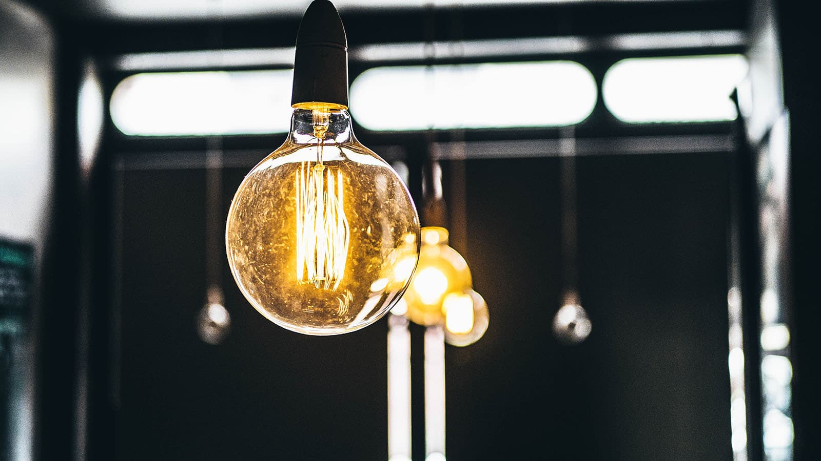 Lightbulbs close up image