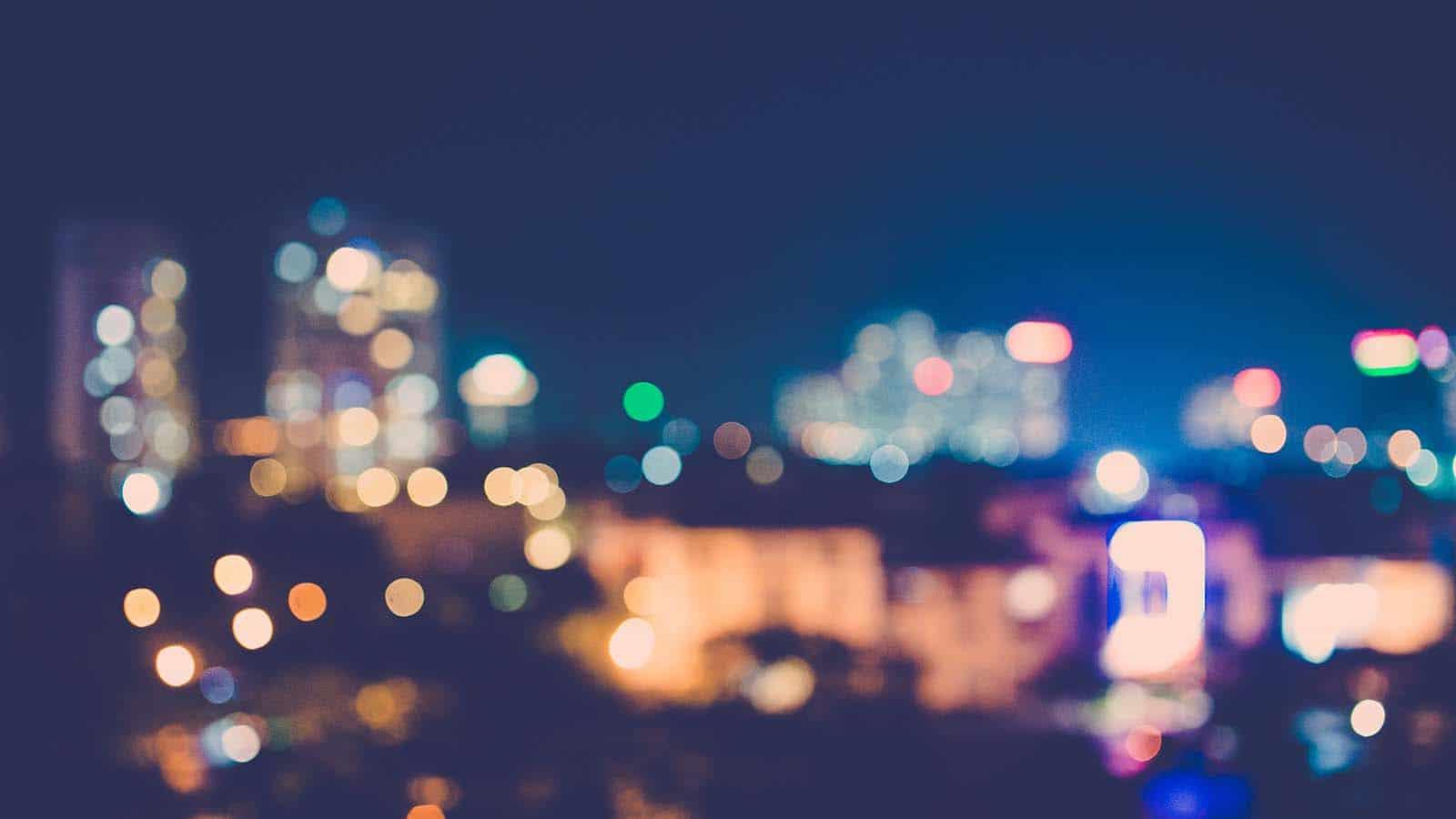 Blurred cityscape night image