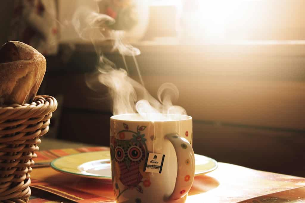 warm mug of tea